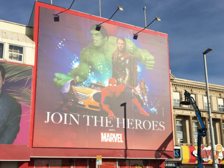 Marvel Heroes Poster Display Banner Graphics