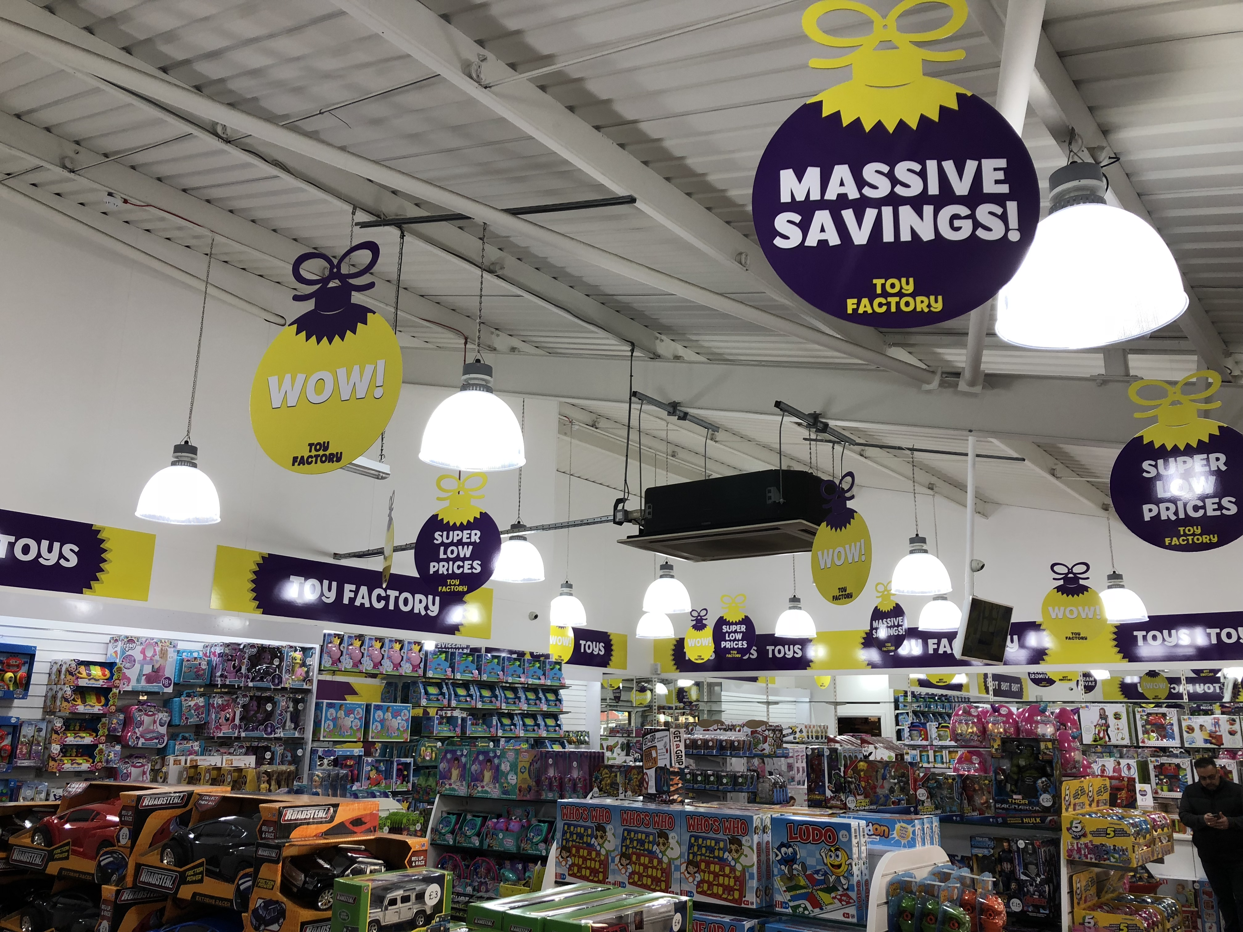 Toy Factory Signage Links Signs and Graphics Wall Graphics