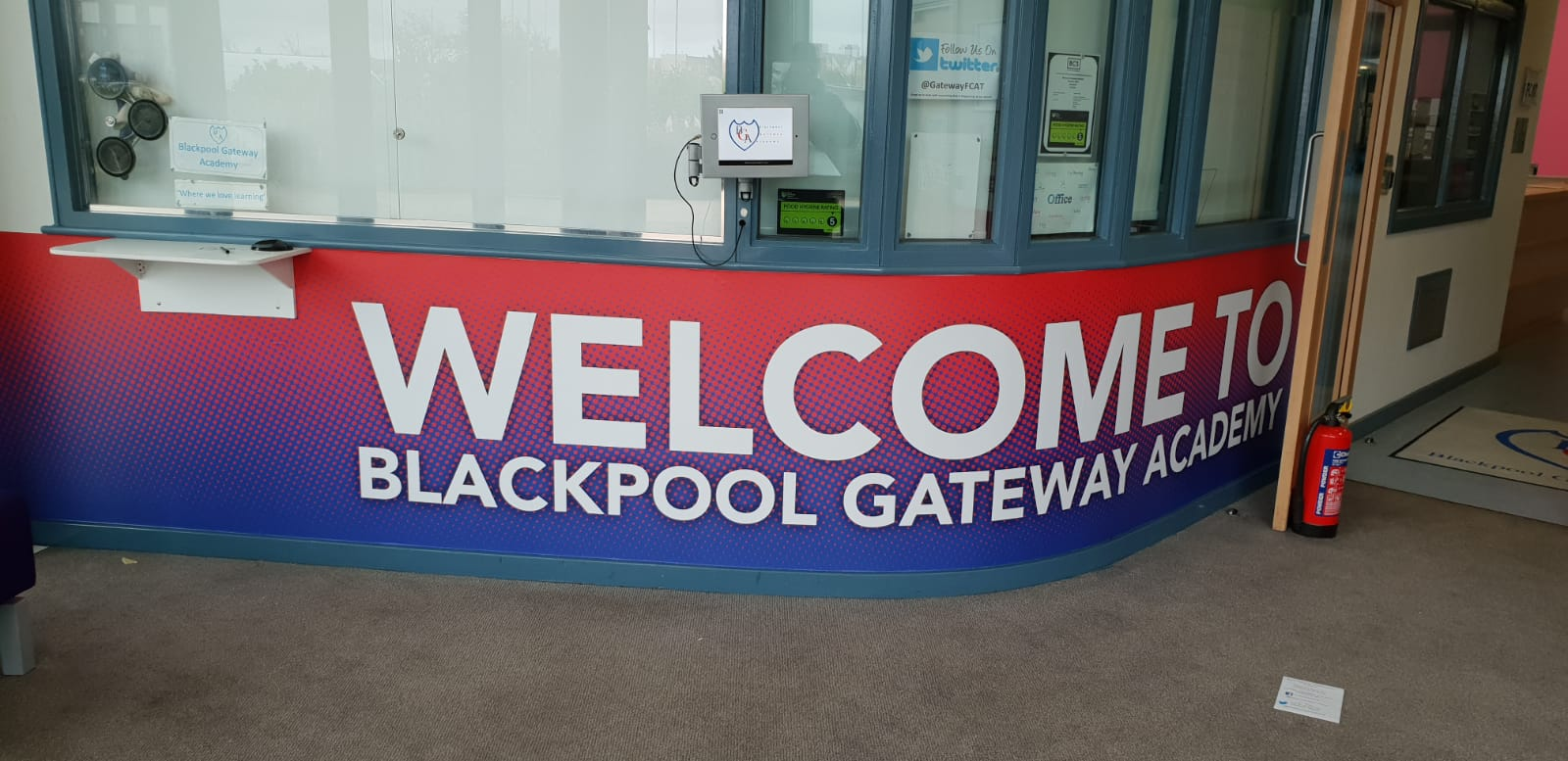 Welcome Blackpool Gateway Academy Wallcoverings Wall Graphics