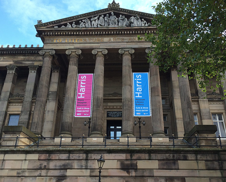 banners harris museum library gallery