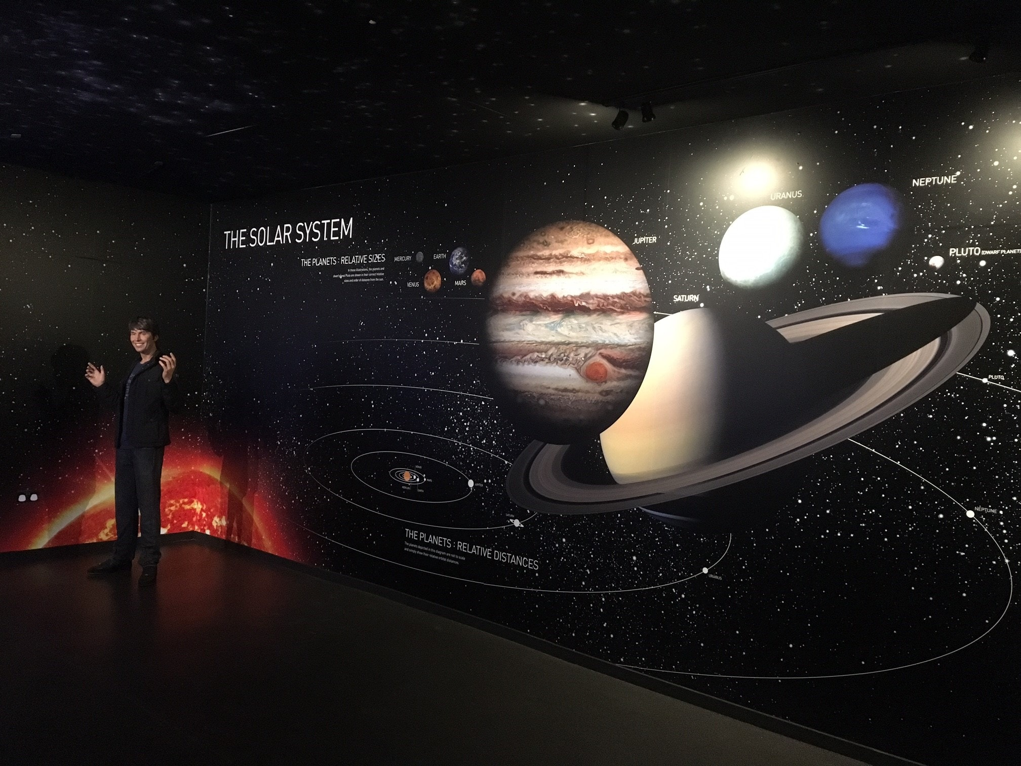 the solar system madame tussauds wall graphics