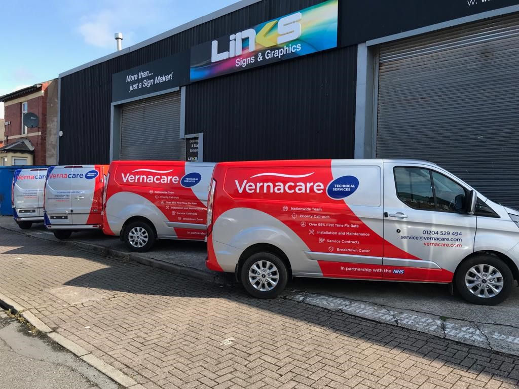 Vernacare vehicle graphics