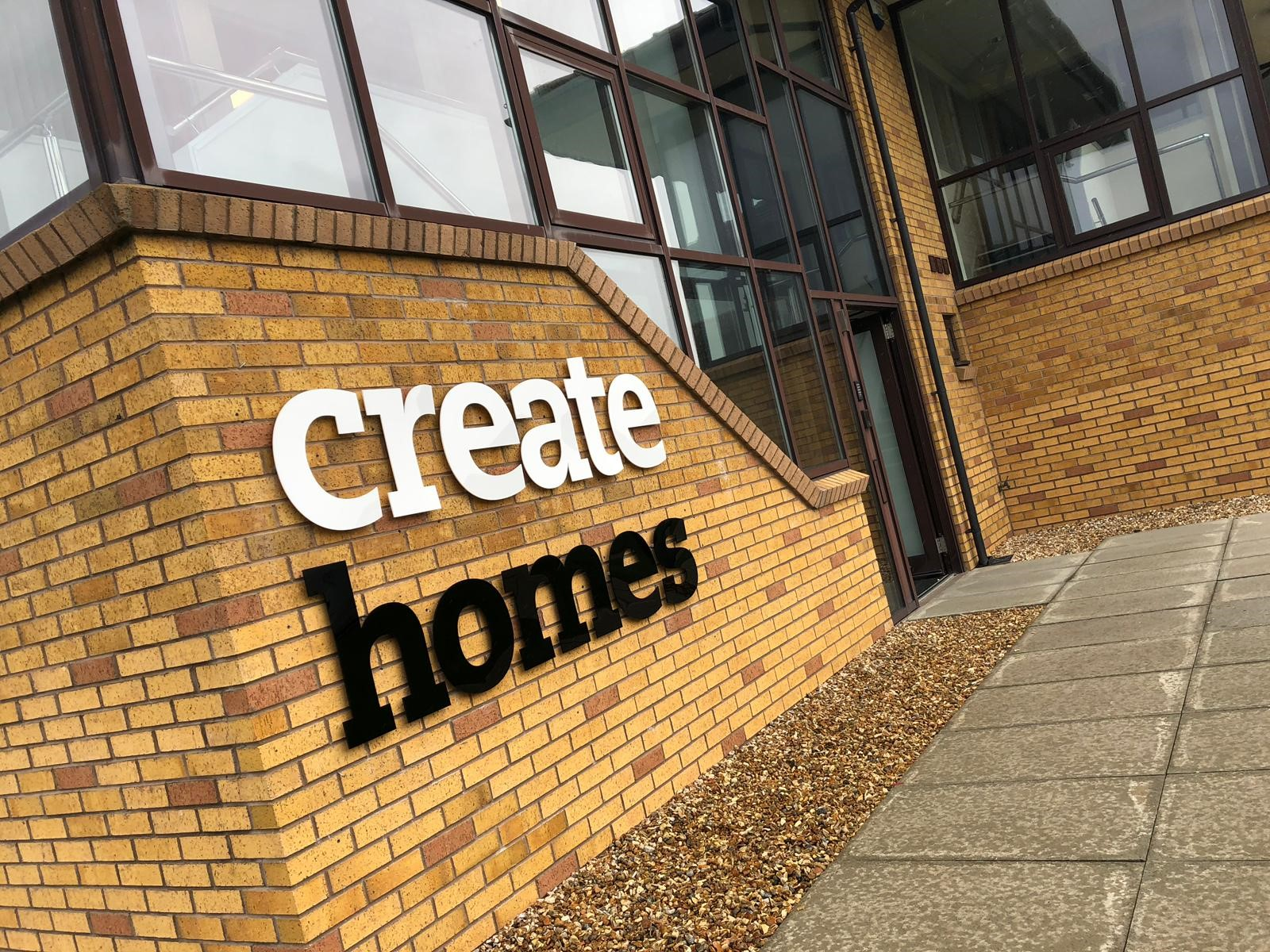 Create Homes UK Office Sign - Front