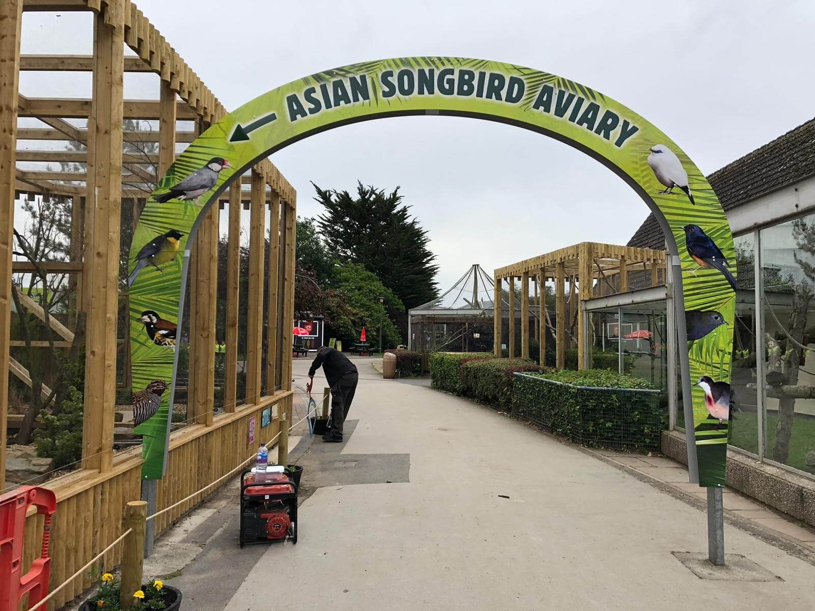 asian song side external sign blackpool zoo