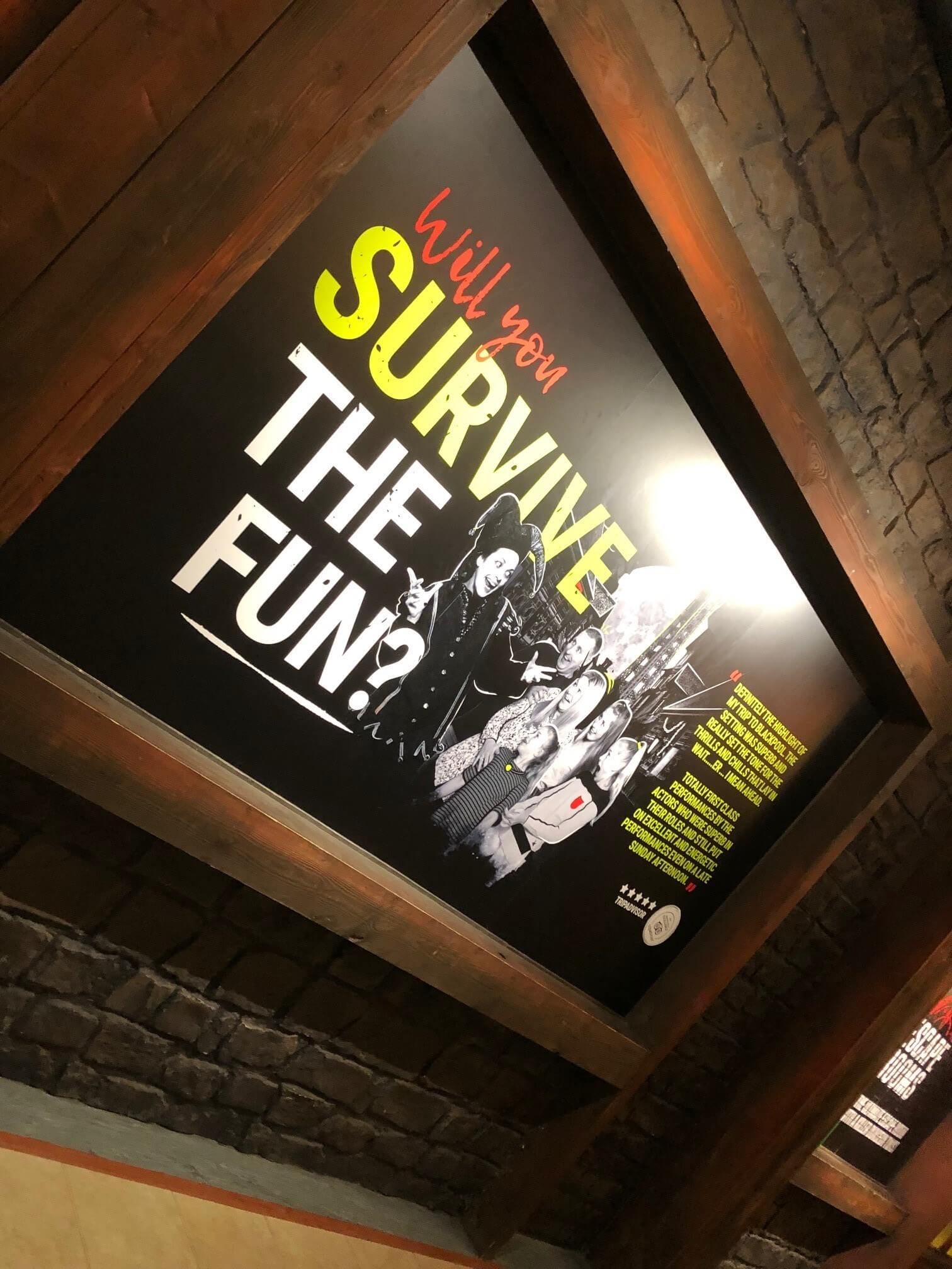 Blackpool tower dungeons escape rooms internal foamex sign