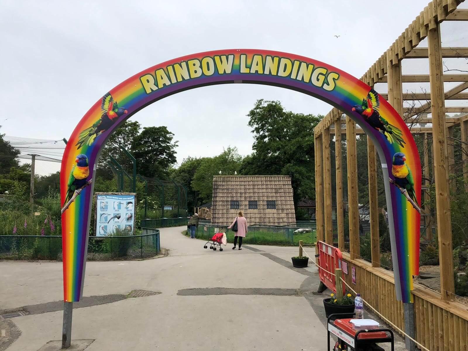 rainbow side blackpool zoo external signage