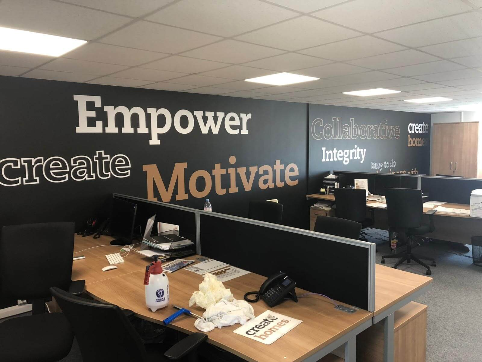 wall lettering create homes empower motivate
