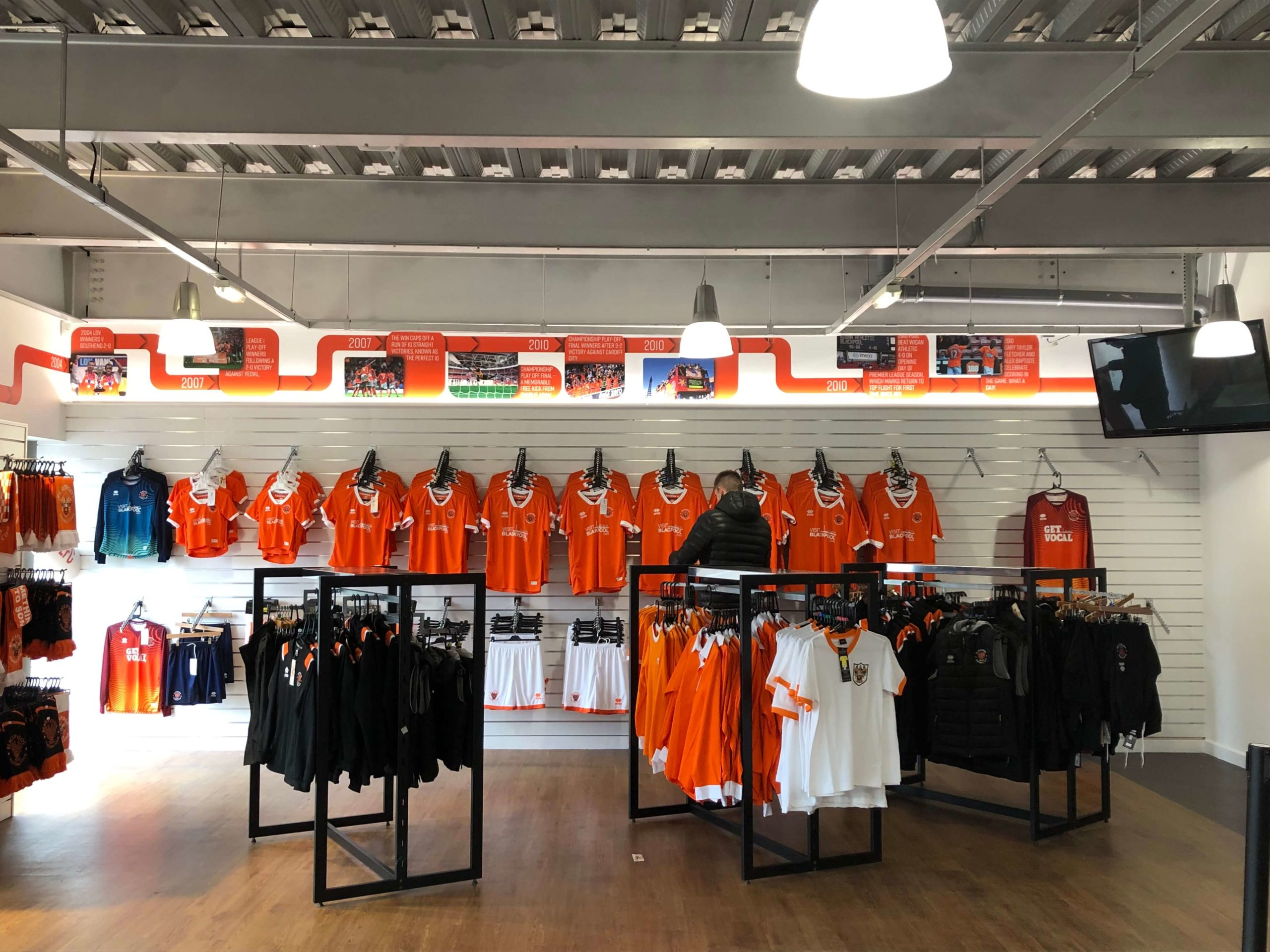 wall timeline blackpool football club