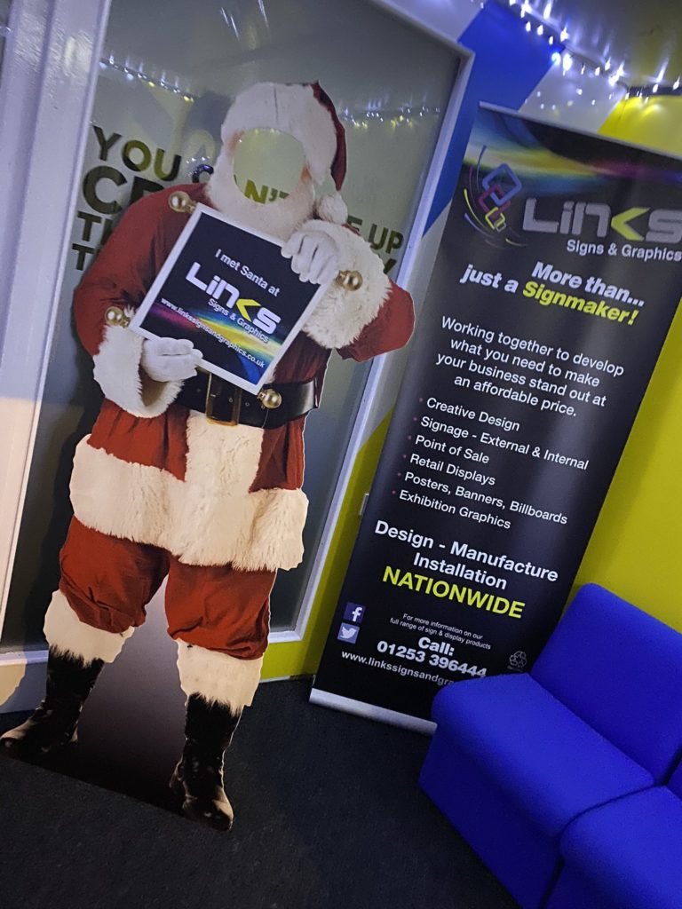 Merry Christmas! Meet Santa at the Links SIgns and Graphics office
