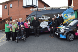 Links Signs and Graphics partner with Trinity Hospice and Brian House and pledge their support through branded vans